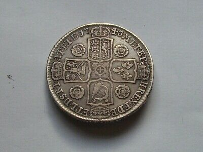George 11 Half Crown Dated 1743 Rare Coin
