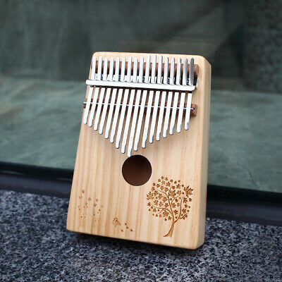 17 Key Wooden Kalimba Thumb Piano Finger Percussion Instrument with Accessories
