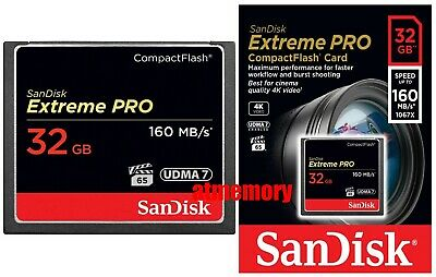 Sandisk Extreme Pro 32GB 32G Compact Flash Card CF 160MB/s 1067x UDMA7 US