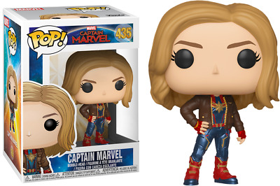Funko Pop! Captain Marvel (2019) - Captain Marvel in Brown Jacket #435