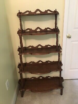 Edwardian (1901-1910) Whatnot Collectors Shelving 100% Original Antique Edwardian Mahogany Wall Mounted Shelves
