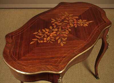 Antique Small Marquetry Inlaid Centre Table c.1930.