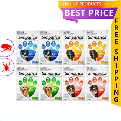 SIMPARICA for Dogs 12 Doses All Sizes Flea and Tick Prevention by Zoetis