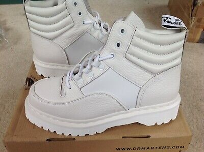 Dr. Martens Womens Aunt Sally Zuma White Leather Boots BNIB Size UK 5 EUR 38