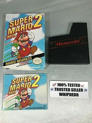 NES/Nintendo Super Mario Bros 2 Red R Box and Instruction Manual ONLY!
