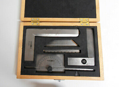 Wilton 5pc Stainless Steel Machinist Measuring Tool Set with Case