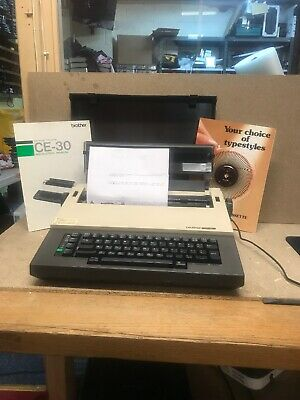 Brother C30 Electric Typewriter Tested Working
