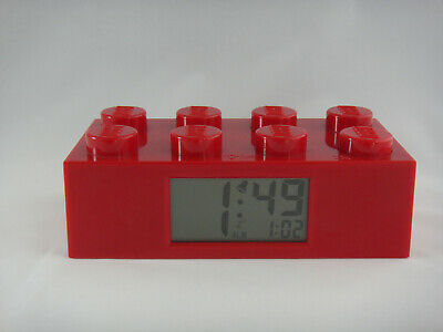 Lego Red Brick Alarm Clock, Light Up Display, Good Condition, Free Post