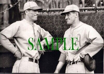 79-J LEFTY GROVE Mickey Cochrane PHILADELPHIA A's Photo