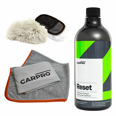 CarPro Wash & Dry Kit with XL Dhydrate Towel - 1 Litre, Reset, Shampoo, Soap