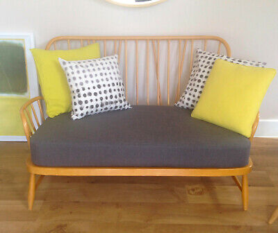 A NEW SEAT CUSHION FOR AN ERCOL TWO SEATER SOFA in GREY WOOL