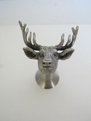 Jagermeister Stags Head Pewter Stirrup Stainless Shot