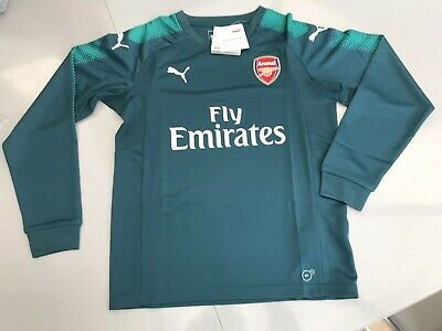f2fd9a9dfa6 Puma 2017-2018 Arsenal Home LS Goalkeeper Shirt Mens SIZE 11-12 Y New