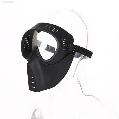 73D5 7414 Protective Airsoft Paintball Game Tactical Full Face Clear Helmet Mask