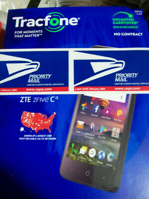 TRACFONE ZTE ZFIVE C Z558VL 16Gb $12 50 a month 250 mins 500 texts +  rollover
