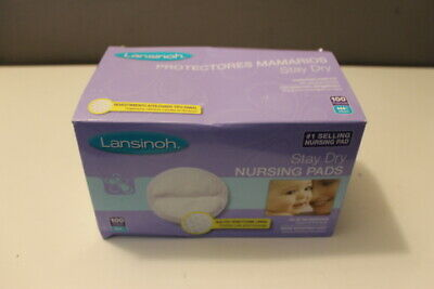 NIB Lansinoh Disposable Individually Wrapped Quilted Nursing Pads 100 count E#2
