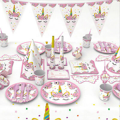 Unicorn Garland Banner Themed Birthday Party Supplies Gifts Glitter Bunting L