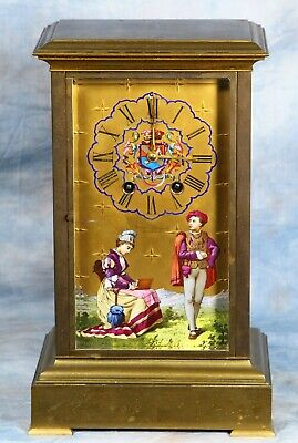 Superb Antique French Crystal Regulator Clock with Sevres Panels 19th Century