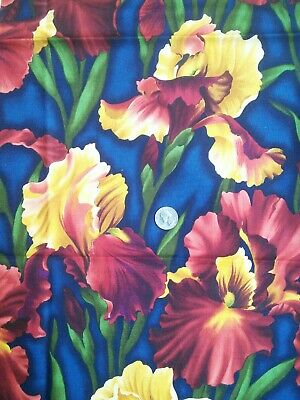 """Benartex Floral 100% Cotton Fabric One Yard Floral 44""""W Quilting Sewing"""