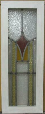 "MIDSIZE OLD ENGLISH LEAD STAINED GLASS WINDOW Stunning Geometric Tower 9"" x 24"""