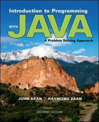 Introduction to Programming with Java : A Problem Solving Approach by Raymond...