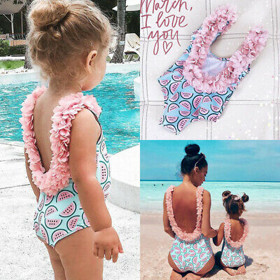 ef1d334465 Toddler Kid Baby Girls Backless Watermelon Bikini Swimwear Swimsuit Bathing  Suit