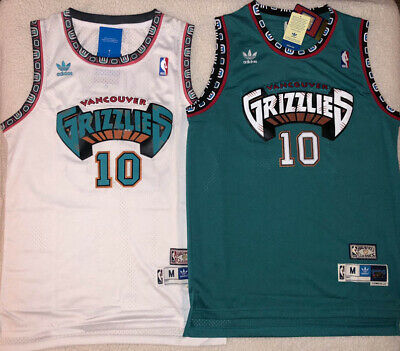 Mike Bibby #10 Hardwood Classics Throwback Vancouver Grizzlies Teal/White Jersey