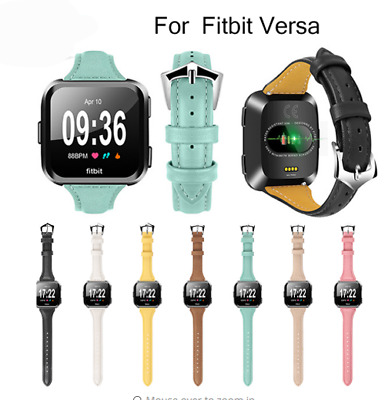 Genuine Leather Replacement Strap Watch Wrist Band For Fitbit Versa Smartwatch