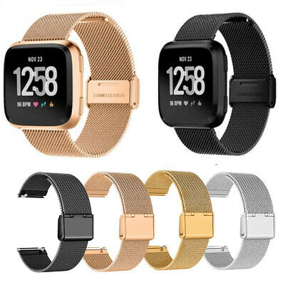 Milanese Loop Mesh Wrist Watch Band Stainless Steel Metal Strap For Fitbit Versa