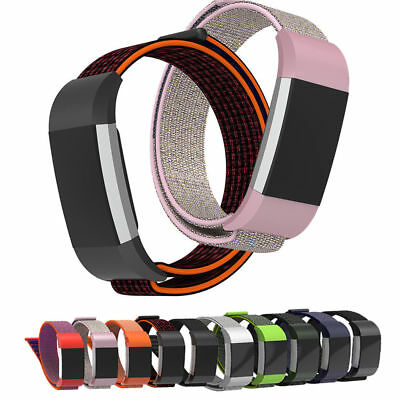 Woven Nylon Sports Watch Bracelet Strap Wrist Band For Fitbit Charge 2