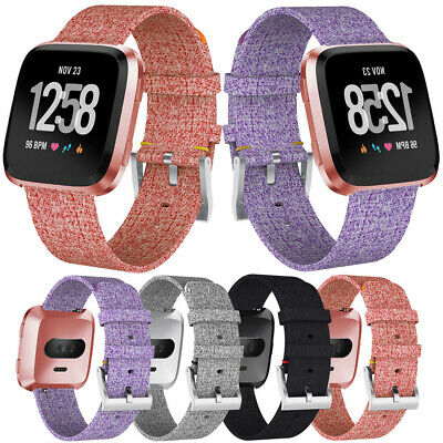 Woven Fabric Quick Replacement Wrist Strap Watch Band For Fitbit Versa