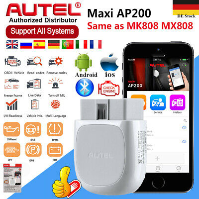 Autel AP200 MK808 Bluetooth OBD2 Diagnosegerät Auto Diagnose Scanner Full System