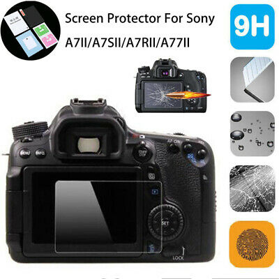 Tempered Glass LCD Screen Protector Film For Sony A7II A7SII A7RII A77II Camera