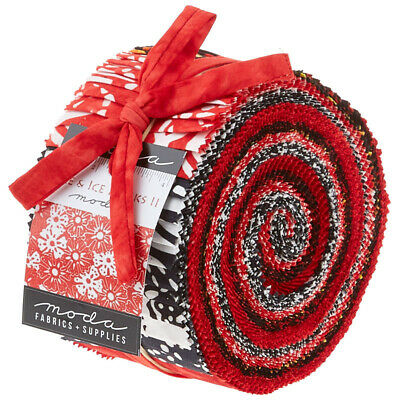 Quilting Fabric Jelly Roll  - Fire And Ice Batiks  X 40 Closing Down Save $$$$$$