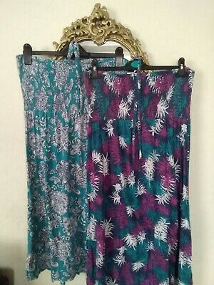 937d049a6f Bhs Riviera Dresses One Teal And White One Blue Mix Sun Dresses Sz Lg About  14