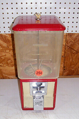 Vintage .25 Cent Northwestern Gumball Candy Store Vending Machine Old Gum Peanut