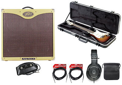 Peavey Classic 50 410 2-Ch 4x10 50W Tube Guitar Amplifier+Headphones+Case+Cables