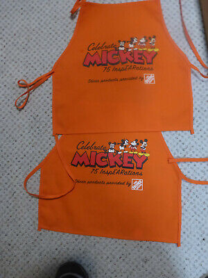 2 Home Depot Kids Workshop CELEBRATE MICKEY 75 InspEARations Apron New