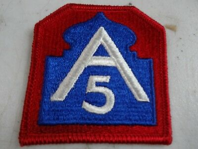 WW2 US 5th Army A-5 Division Shoulder Unit Military Uniform Patch Orig. WWII