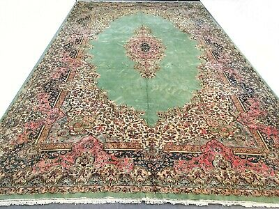 Fantastic Antique Handmade Persian Rug 10x17 Oriental Palace Carpet Hand Knotted