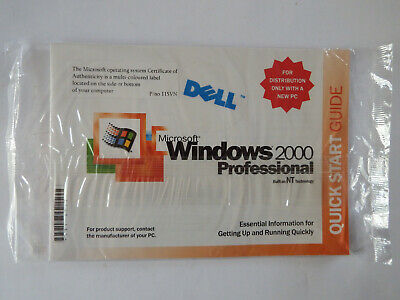 Microsoft Windows 2000 Professional Reinstallation CD W2K + SP2 For Dell PC
