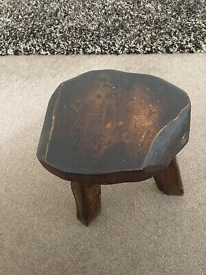 Vintage Oak Wanderwood Three Legged Stool