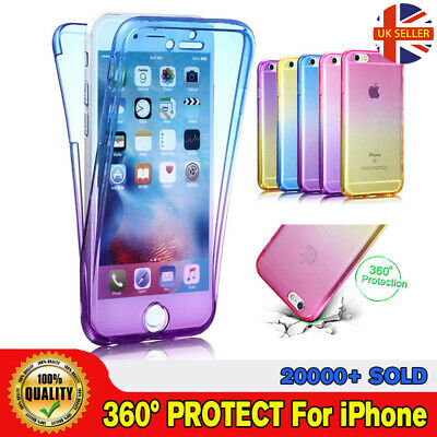 CLEARANCE Slim Shockproof 360° Front and Back Full Body TPU Silicon Case iPhone