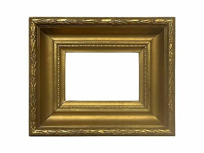 Antique French 1875 Scoop High Quality Gold Leaf Picture Frame
