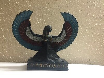carved Ancient Egyptian Statue Winged Goddess Isis for Protection Egypt