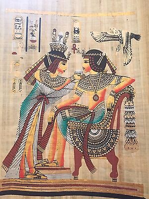 Ancient Egyptian King Tutankhamen offered magic wine handmade Egyptian Payprus.