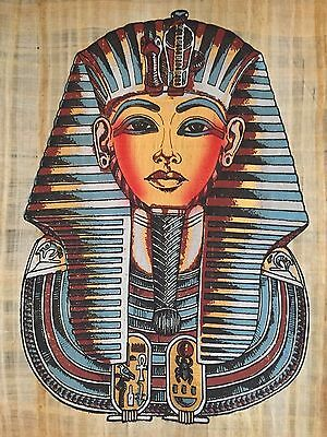 Amazing Large Egyptian king Tut Handmade Ancient Papyrus Painting ..