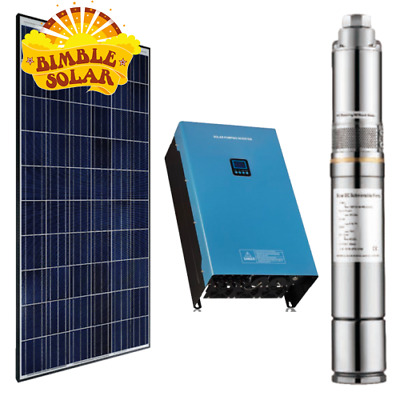 400w DC Solar Water Pumping Kit with 2 x 305w Solar Panels, Inverter and Pump