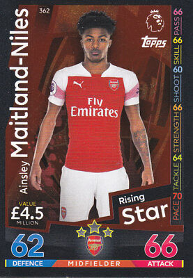TOPPS MATCH ATTAX 2018-19 - Ainsley Maitland-Niles - Arsenal - 362 - RISING STAR