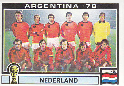 Panini - World Cup Story - Argentina 1978 - National Team Photo - Holland -# 118
